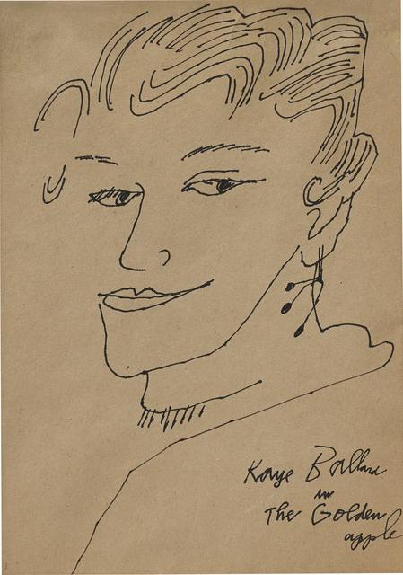 Andy Warhol, 'Kaye Ballard in the Golden Apple', 1957, Phillips