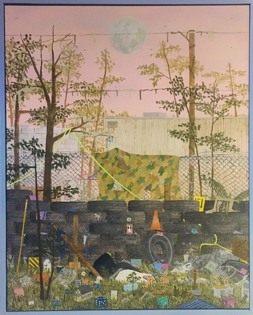 Max Seckel, 'Palace', 2021, Painting, Flashe, Acrylic, and Spray Paint on Canvas, Mortal Machine