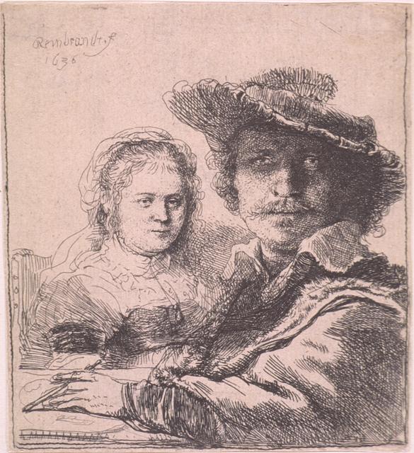 , 'Self-portrait with Saskia,' 1636, Seattle Art Museum