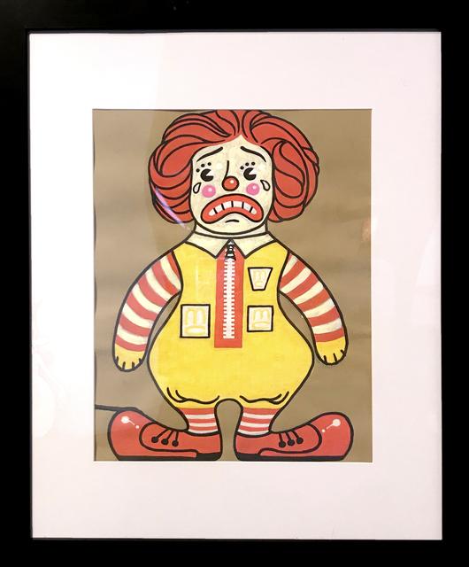, 'Sad Clown Ronald,' 2018, La Luz de Jesus Gallery