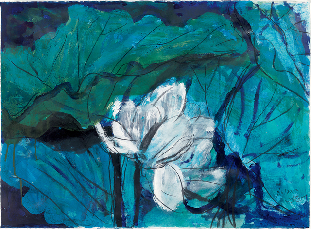 , 'Lotus Diary II,' 2017, Galerie du Monde