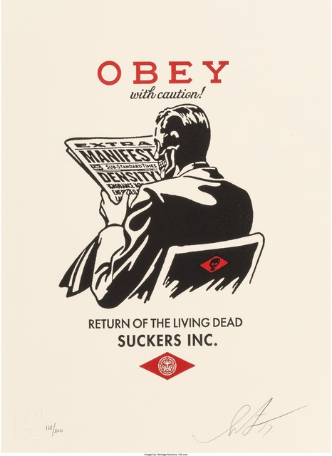 Shepard Fairey (OBEY), 'Obey with Caution and No Future (two works)', 2017-2016, Heritage Auctions