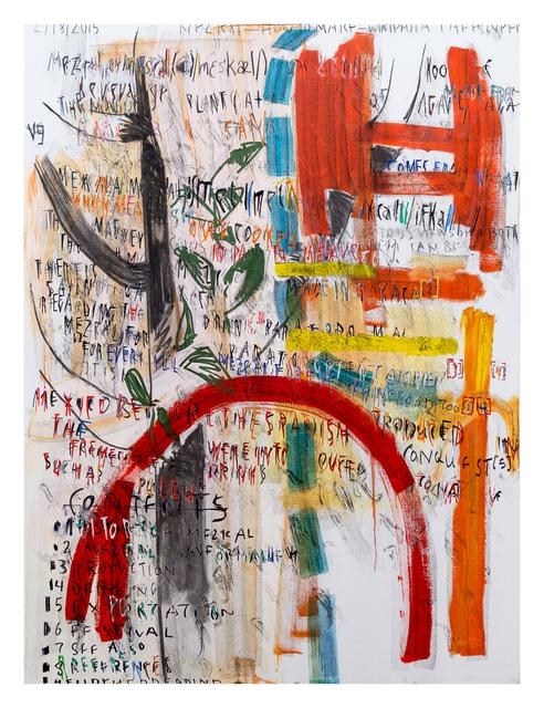 , 'Mescal (Wikipedia),' 2015, Derek Eller Gallery