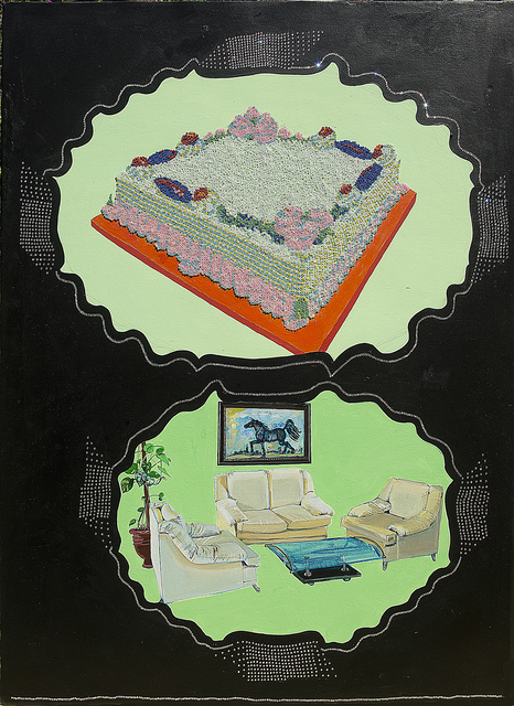 , 'Cake in the Drawing Room with the Bad Painting,' 2015, Aicon Gallery