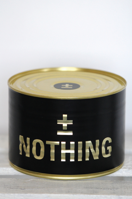 ±MaisMenos±, 'A Can Of Nothing', 2013, Underdogs Gallery