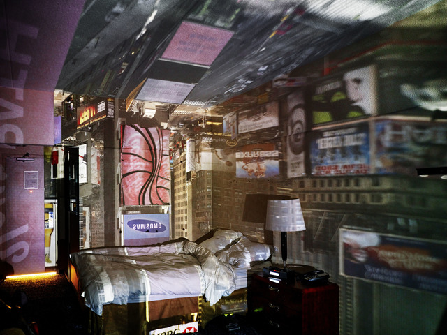 , 'Camera Obscura: View Of Times Square In Hotel Room,' 2010, Edwynn Houk Gallery