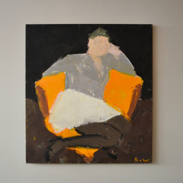 Sargy Mann, 'Frances in the corner chair black background', ca. 2008, Cadogan Contemporary