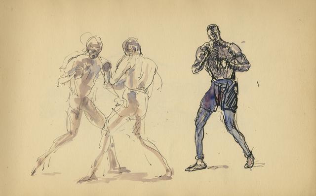 , 'Sparring,' 1929, Anthony's Fine Art
