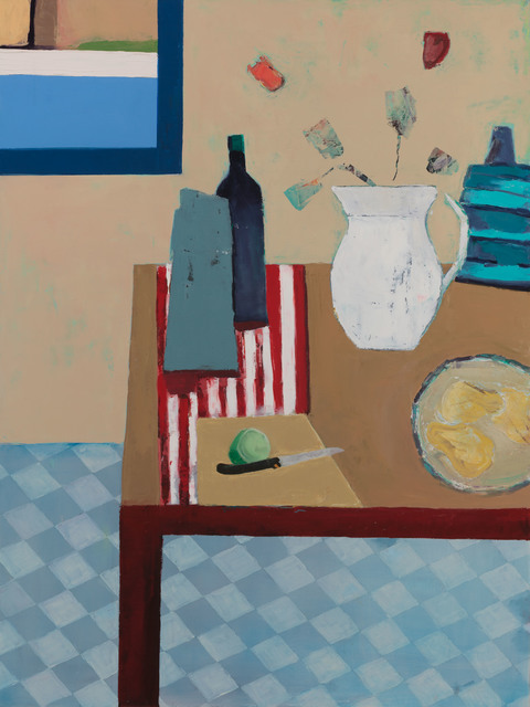 , 'Red Striped table,' 2010-2018, Eisenhauer Gallery