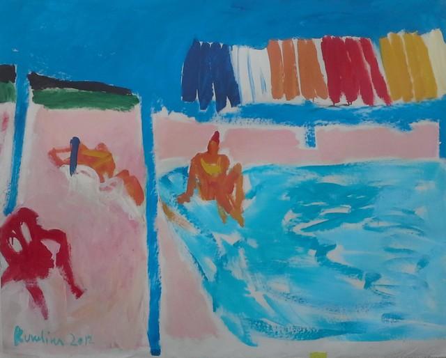 Olga Kundina, 'Swimming Pool', 2012, Painting, Oil on canvas, Rosenfeld Gallery