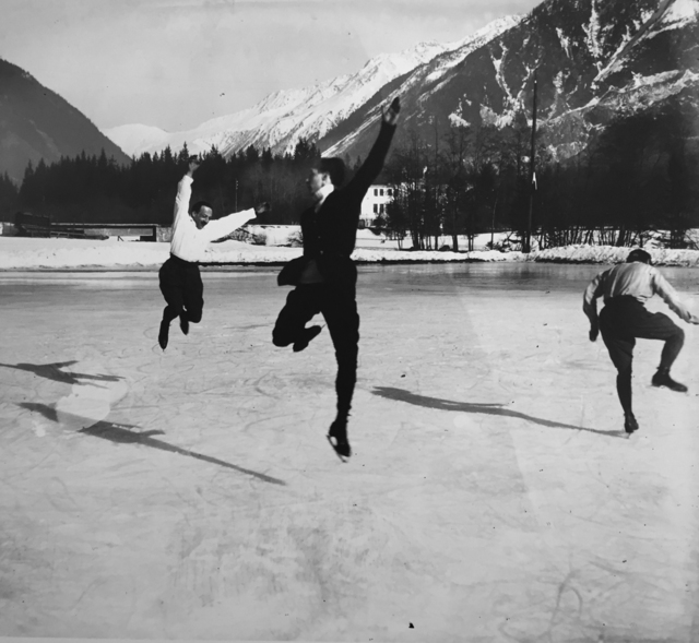 , 'Albert Heide, Francis Pigneron and Ostertag Chamonix, January,' 1918, G. Gibson Gallery