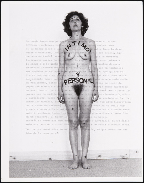 Esther Ferrer, 'Íntimo y personal (Intimate and Personal)', 1977, Museo Reina Sofía