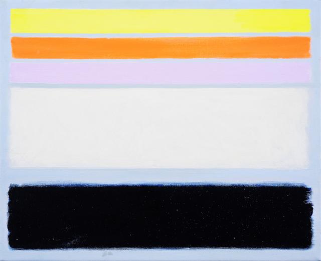 , 'Yellow Lake, Orange & Lilac / Dark Sea,' 2018, Charles Nodrum Gallery