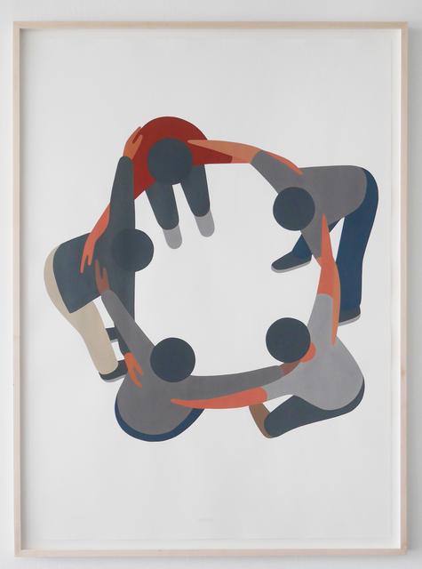 , 'Making a Circle (Hug),' 2016, V1 Gallery