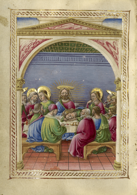 Taddeo Crivelli, 'The Last Supper', 1469, J. Paul Getty Museum