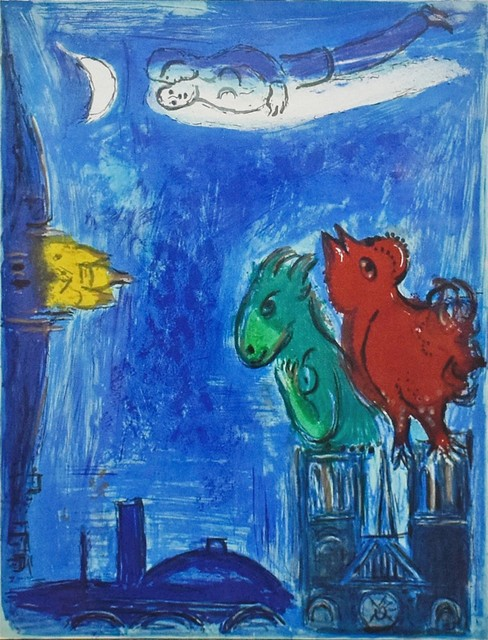 Marc Chagall, 'The Monsters of Notre Dame', 1954, Print, Lithograph, Georgetown Frame Shoppe