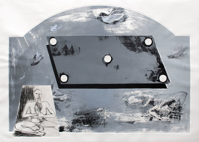 Mimmo Paladino, 'Solone', 1990, Print, Screenprint, etching, carborundum and embossing, Goldmark Gallery