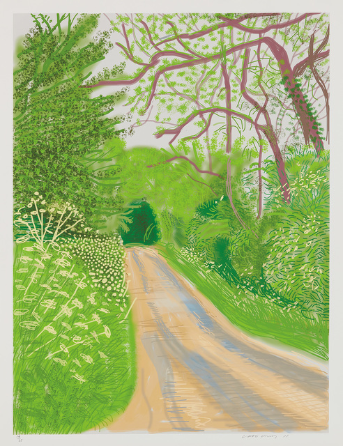 David Hockney, 'The Arrival of Spring in Woldgate, East Yorkshire in 2011 (twenty eleven) - 16 May, 2011', 2011, Phillips
