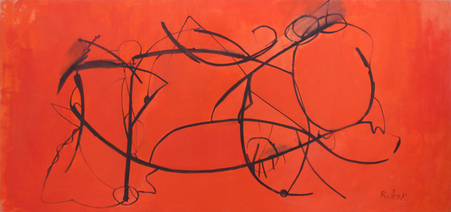 , 'Untitled (Orange with Black Swirls),' ca. 1970, Addison Rowe Gallery