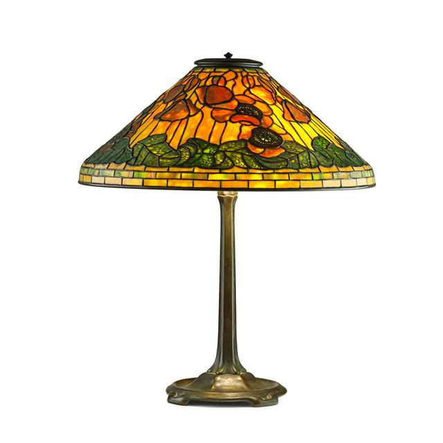 Tiffany Studios, 'Fine Poppy Table Lamp, New York', Early 20th C., Rago/Wright