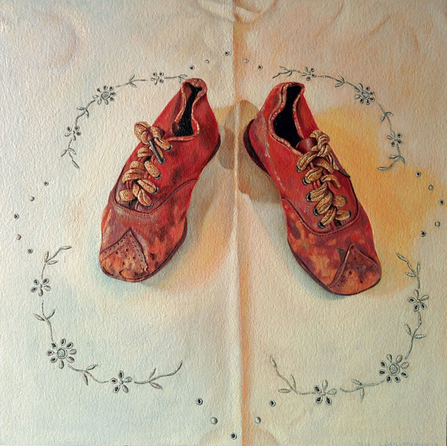 , 'Red Shoes,' 2018, Sue Greenwood Fine Art