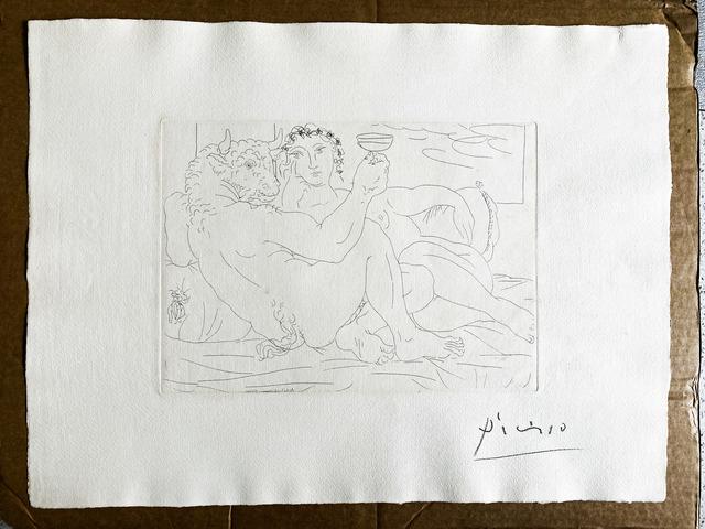Pablo Picasso, 'Le repos du Minotaure: Champagne et amante ', 1933, Fairhead Fine Art Limited