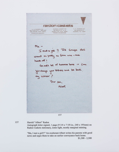 , 'Auction Page (Letter From a Son),' 2013, Rosamund Felsen Gallery