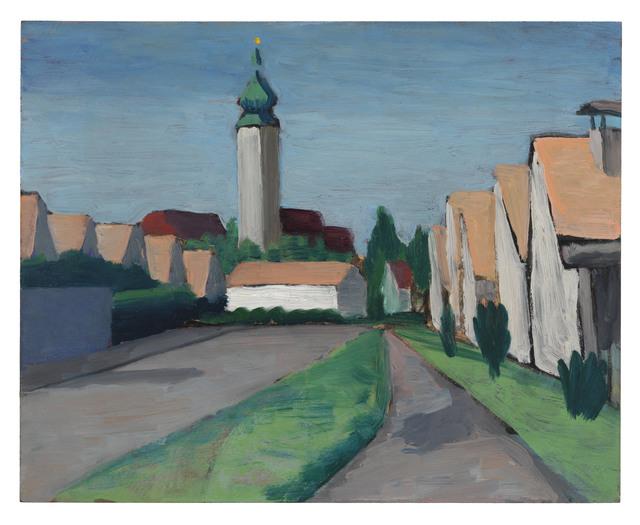 , 'Vorstadt mit Barockkirche (München Ramersdorf),' 1934, Ludorff
