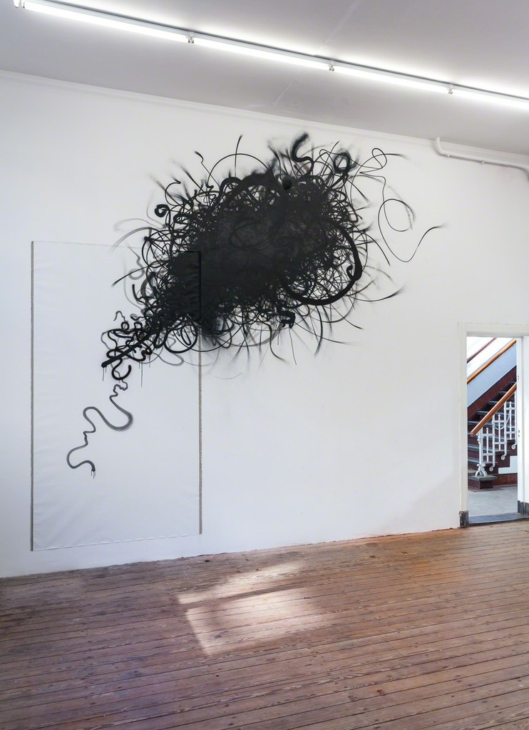 Installation view of Abstract Vandalism with work by Nug. Photo Peter Tijhuis.