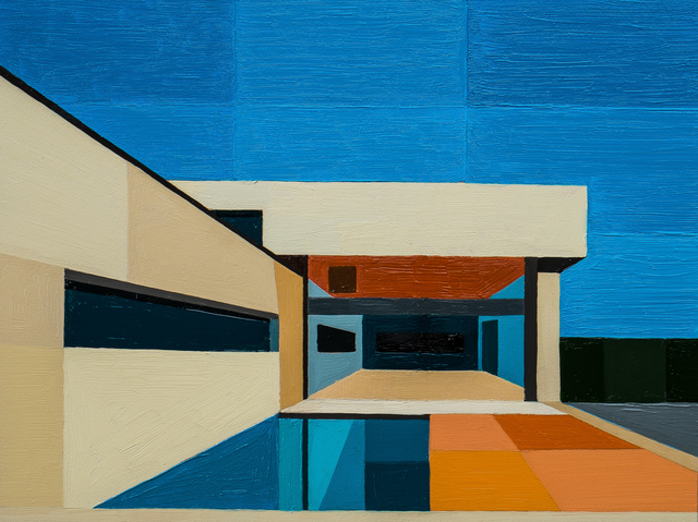 , 'Abstract Pool House,' 2016, Cynthia Corbett Gallery