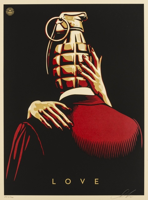 Shepard Fairey (OBEY), 'Love is the Drug (Red)', 2012, Forum Auctions
