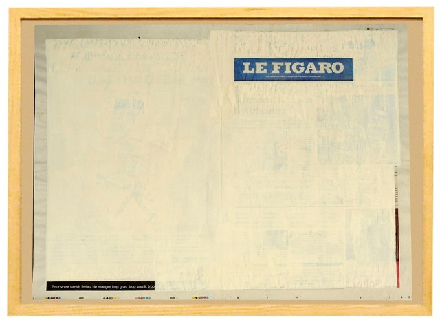 """, 'from the """"Recycled News"""" series ( Le Figaro - French newspaper),' 2008, Profile"""