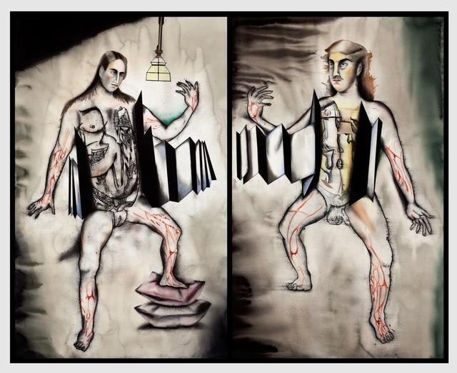 Anju Dodiya, 'Accordion of Uncertainty I & II (Diptych)', 2014, Vadehra Art Gallery