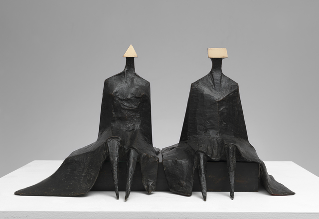 , 'Sitting Figures in Robes I,' 1980, Osborne Samuel