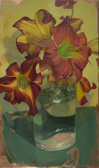 , 'Day Lilies in Accio Bottle,' 2015, LeMieux Galleries