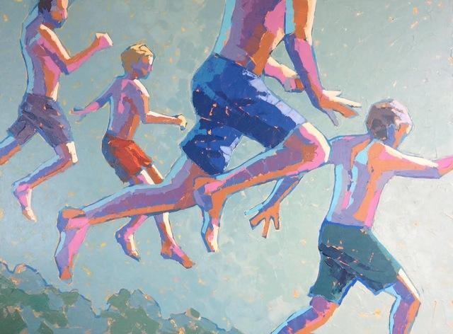, 'Sunset Dip,' 2017, Eisenhauer Gallery