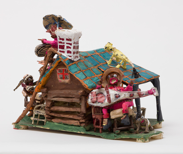 , 'Untitled (WH238 house blue roof people animals),' , The Good Luck Gallery