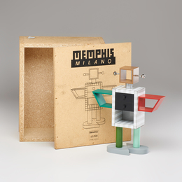 Ginza Robot miniature laminated 1:6 scale cabinet, with original box