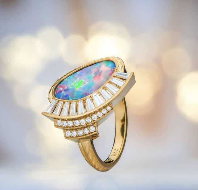Buddy Austin, 'Opal Ring', 2018, Jewelry, Opal and Diamonds in Gold, The Crown Collection