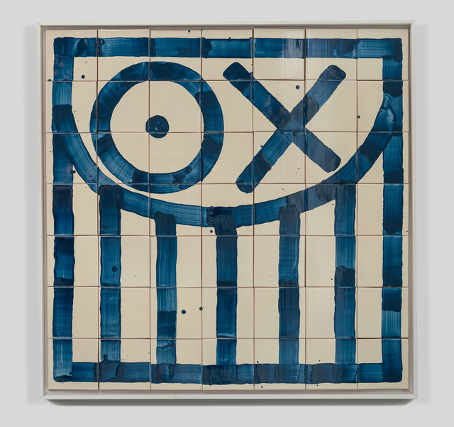 André Saraiva, 'Square Mr. A Tile 7', 2018, Mixed Media, Hand-painted tiles, Underdogs Gallery