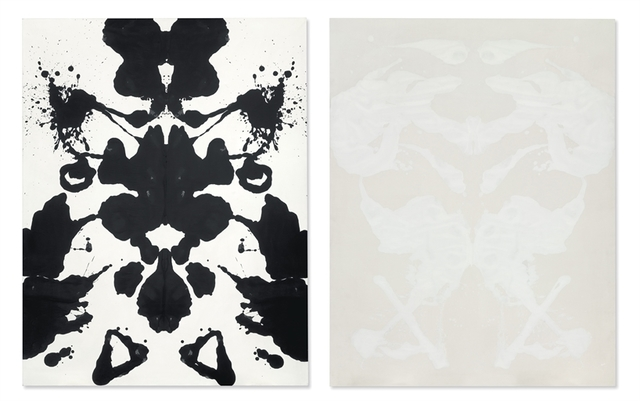 Andy Warhol, 'Rorschach', Diptych - acrylic and silkscreen ink on canvas, Christie's