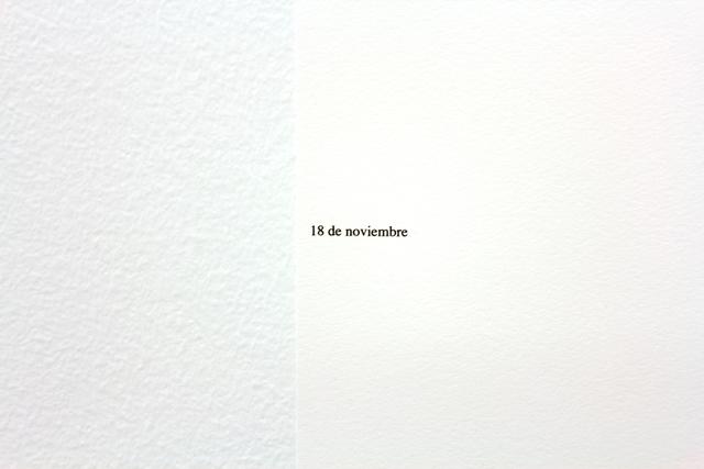 , '18 de noviembre (Sueño 4),' 2015, Moisés Pérez De Albéniz
