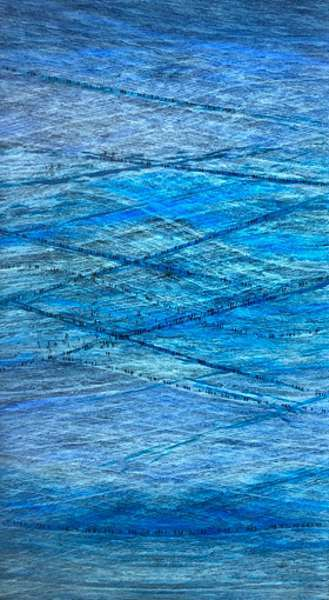 , 'Blue Crossing,' 2018, Pace Gallery