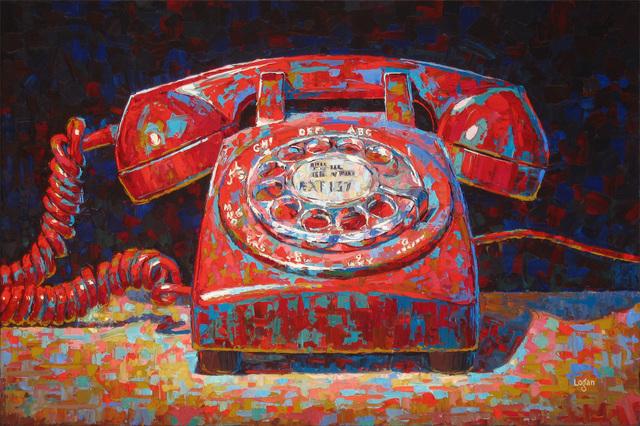 , 'Rotary Phone Red,' 2016, George Billis Gallery