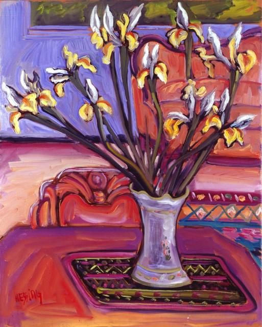 , 'Yellow Irises,' 1994, Pucker Gallery