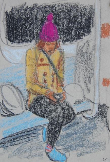 , 'Blue Shoes, Purple Hat,' 2016, Ground Floor Gallery