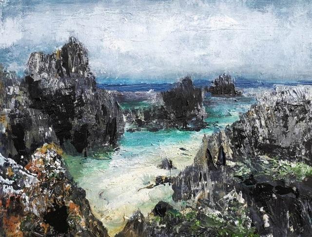 , 'Receding Clouds, North Beach (Isle of Iona),' 2018, Lime Tree Gallery