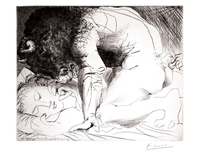 Pablo Picasso, 'Minotaure caressant du Mufle la Main d'une Dormeuse (S.V. 93) ', 1933, John Szoke
