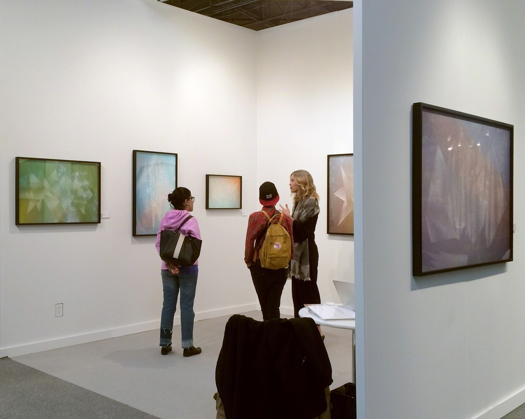 Christopher Russell works on view in Upfor's booth at AIPAD.