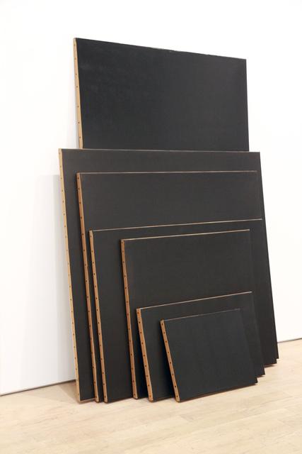 , 'Black Monochrome (Seven Stacked),' 2017, Pierogi